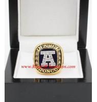 1986 Denver Broncos America Football Conference Championship Ring, Custom Denver Broncos Champions Ring