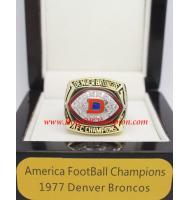 1977 Denver Broncos America Football Conference Championship Ring, Custom Denver Broncos Champions Ring
