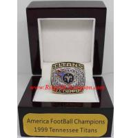 1999 Tennessee Titans America Football Conference Championship Ring, Custom Tennessee Titans Champions Ring