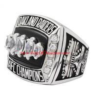 2002 Oakland Raiders America Football Conference Championship Ring, Custom Oakland Raiders Champions Ring