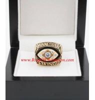 1976 Minnesota Vikings National Football Conference Championship Ring, Custom Minnesota Vikings Champions Ring