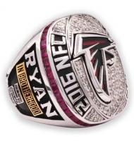 2016 Atlanta Falcons NFC Men's Football Replica Championship Ring, Custom Atlanta Falcons Champions Ring