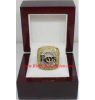 2008 Tampa Bay Rays America League Baseball Championship Ring, Custom Tampa Bay Rays Champions Ring