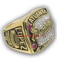 1996 Atlanta Braves National League Baseball Championship Ring, Custom Atlanta Braves Champions Ring