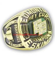 1978 Edmonton Eskimos The 66th Grey Cup Championship Ring, Custom Edmonton Eskimos Champions Ring