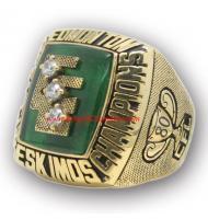 1980 Edmonton Eskimos the 68th Grey Cup Men's Football Championship Ring, Custom Edmonton Eskimo Champions Ring