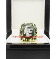 1987 Edmonton Eskimos the 75th Grey Cup Men's Football Championship Ring, Custom Edmonton Eskimo Champions Ring