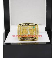 1989 Saskatchewan Roughriders The 77th Grey Cup Championship Ring, Custom Saskatchewan Roughriders Champions Ring
