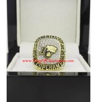 1994 BC Lions The 82nd Grey Cup Men's Football CFL championship ring, Custom BC Lions Champions Ring