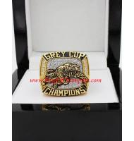 1999 Hamilton Tiger-Cats The 87th Grey Cup Championship Ring, Custom Hamilton Tiger-Cats Champions Ring