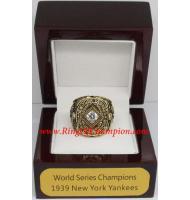 1939 New York Yankees World Series Championship Ring, Custom New York Yankees Champions Ring