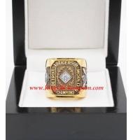 1945 Detroit Tigers World Series Championship Ring, Custom Detroit Tigers Champions Ring