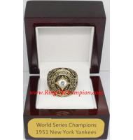 1951 New York Yankees World Series Championship Ring, Custom New York Yankees Champions Ring