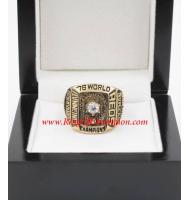 1976 Cincinnati Reds World Series Championship Ring, Custom Cincinnati Reds Champions Ring