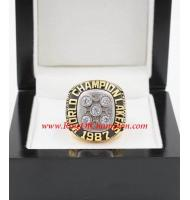 1986 - 1987 Los Angeles Lakers Basketball World Championship Ring, Custom Los Angeles Lakers Champions Ring