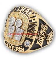 2000 - 2001 Los Angeles Lakers Basketball World Championship Ring, Custom Los Angeles Lakers Champions Ring