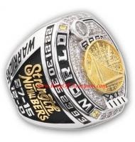 2017 Golden State Warriors Basketball World Championship FAN Ring, Custom Champions Ring