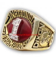 1985 Oklahoma Sooners Men's Football NCAA National College Championship Ring