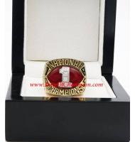 1985 Oklahoma Sooners Men's Football NCAA National College Championship Ring