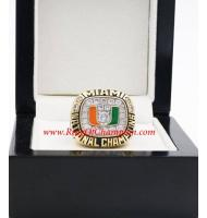 1991 Miami Hurricanes Men's Footaball NCAA National College championship ring