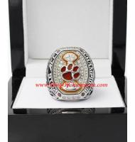 2015 Clemson Tigers ACC Men's Football College Championship Ring, CustomClemson Tigers Champions Ring