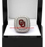 2015 Oklahoma Sooners Men's Football Big 12 Championship Ring, Custom Oklahoma Sooners Champions Ring