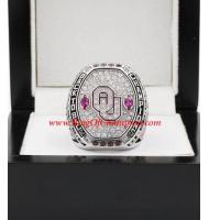 2016 Oklahoma Sooners Big 12 Men's Football College Championship Ring, custom Oklahoma Sooners ring