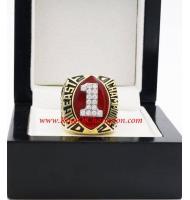 2002 Miami Hurricanes Men's Football Big East Championship Ring, Custom Miami Hurricanes Champions Ring