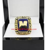 1998 Michigan Wolverines Big Ten Men's Football College Championship Ring