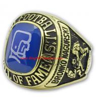 1963 Bronko Nagurski Hall of Fame Men's Football Championship Ring, Custom Bronko Nagurski Champions Ring