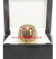 1976 Indiana Hoosiers Men's Basketball National College Championship ring
