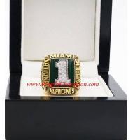 1989 Miami Hurricanes Men's Football NCAA National College Championship Ring