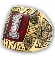 1991 Washington Huskies Men's Football NCAA National College Championship Ring