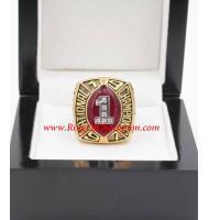 1997 Nebraska Cornhuskers Men's Football NCAA National College Championship Ring