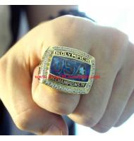 "2008 USA Olympics Basketball ""Redeem Team"" Gold Medal Championship Ring, Replica Olympic Champions Ring"
