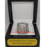 2013 Dominican Republic World Baseball Classic National Championship Ring