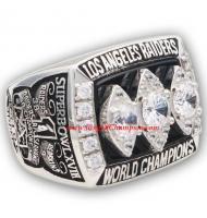 1983 Los Angeles Raiders Super Bowl XVIII World Championship Ring, Replica  Los Angeles Raiders Ring