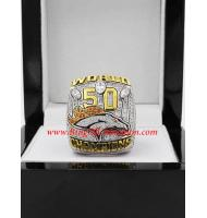 2015 Denver Broncos Super Bowl 50 World Championship Ring, Custom Denver Broncos Champions Ring