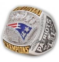 2016 New England Patriots Super Bowl LI Championship FAN Ring, Custom New England Patriots Champions Ring