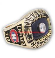 1976–77 Montreal Canadiens Men's Hockey Stanley Cup Championship Ring, Custom Montreal Canadiens Champions Ring