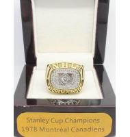 1977 - 1978 Montreal Canadiens Stanley Cup Championship Ring, Custom Montreal Canadiens Champions Ring