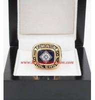 1983 - 1984 Edmonton Oilers Stanley Cup Championship Ring, Custom Edmonton Oilers Champions Ring