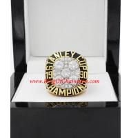 1989 - 1990 Edmonton Oilers Stanley Cup Championship Ring, Custom Edmonton Oilers Champions Ring