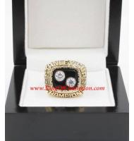 1991 - 1992 Pittsburgh Penguins Stanley Cup Championship Ring, Custom Pittsburgh Penguins Champions Ring