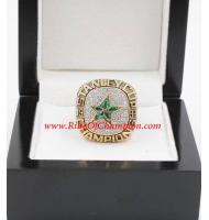 1998 - 1999 Dallas Stars Stanley Cup Championship Ring, Custom Dallas Stars Champions Ring