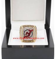 2002 - 2003 New Jersey Devils Stanley Cup Championship Ring, Custom New Jersey Devils Champions Ring