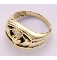 10K Solid Yellow Gold Onxy Men's Claddagh Ring Traditional Irish Ring